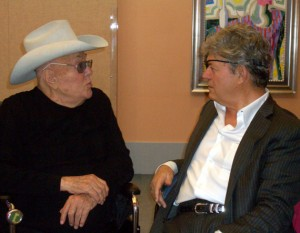 Tony Curtis and Norm Clarke chat it up before taking the stage. Photo by Megan Edwards.